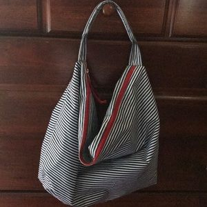 Lancôme Microfiber Tote Bag Blue And White Stripe